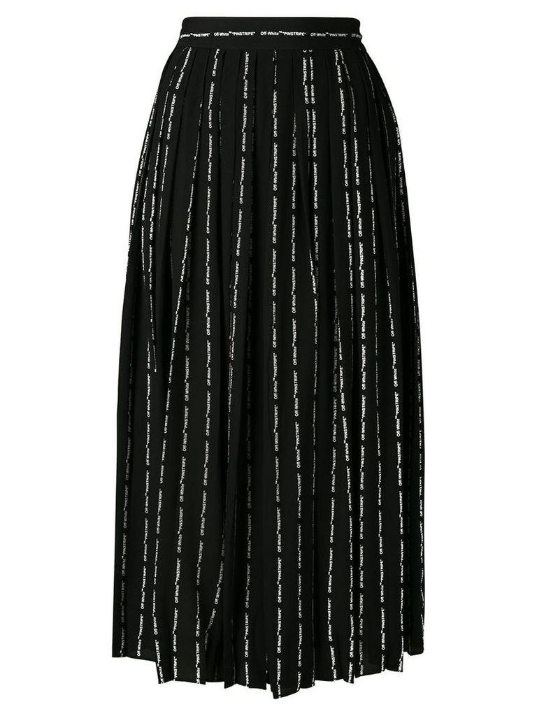 Off-White logo striped skirt - Black