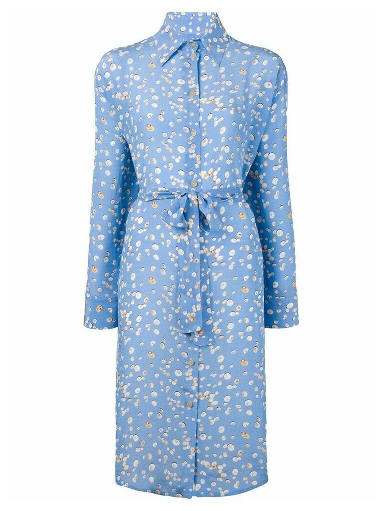 Tara Matthews seashell printed shirt dress - Blue