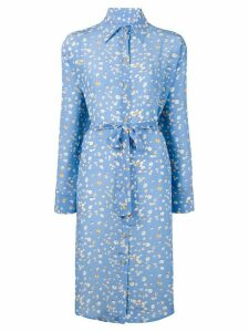 Tara Matthews seashell printed shirt dress - Blue