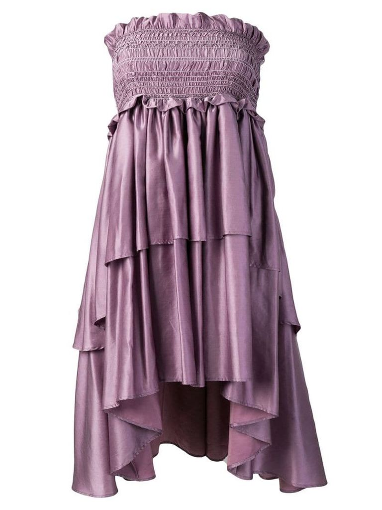 Lardini Apsu tiered dress - Purple
