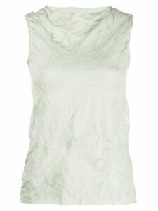 Theory crinkle effect tank top - Green