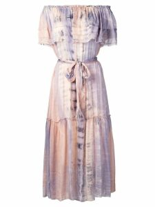 Raquel Allegra tie-dye midi dress - Pink
