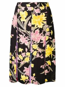 Diane von Furstenberg floating bouquet skirt - Black