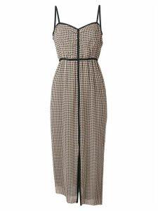 Nanushka crepe check dress - Neutrals