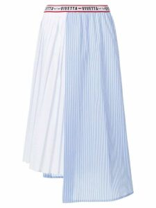 Vivetta striped and pleated panelled skirt - Blue