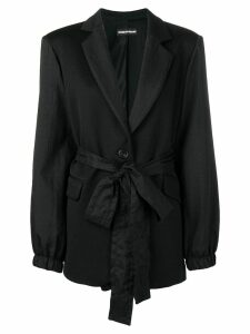 HOUSE OF HOLLAND waist-tied fitted blazer - Black