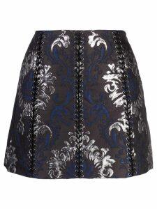 Vera Wang lace-up detail mini skirt - Black