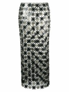 Paco Rabanne flower panel skirt - Black