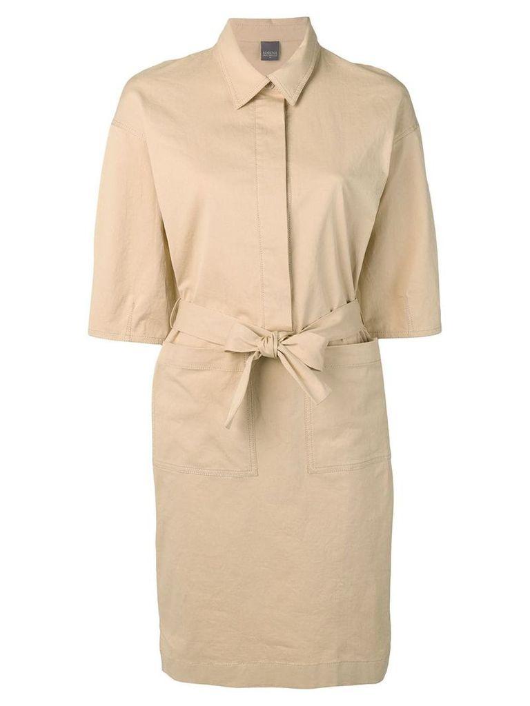 Lorena Antoniazzi waist-tied shirt dress - Neutrals