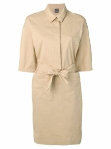 Lorena Antoniazzi waist-tied shirt dress - NEUTRALS