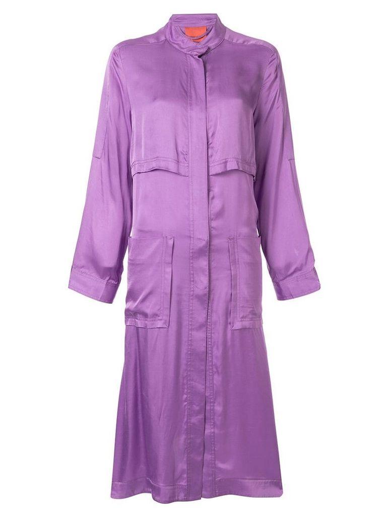 Manning Cartell zipped parka coat - Purple