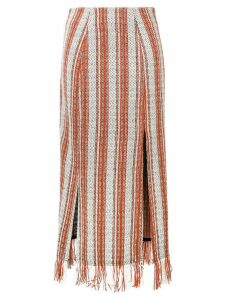 3.1 Phillip Lim striped fringed skirt - White