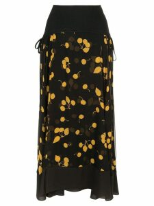 3.1 Phillip Lim asymmetric floral skirt - Black