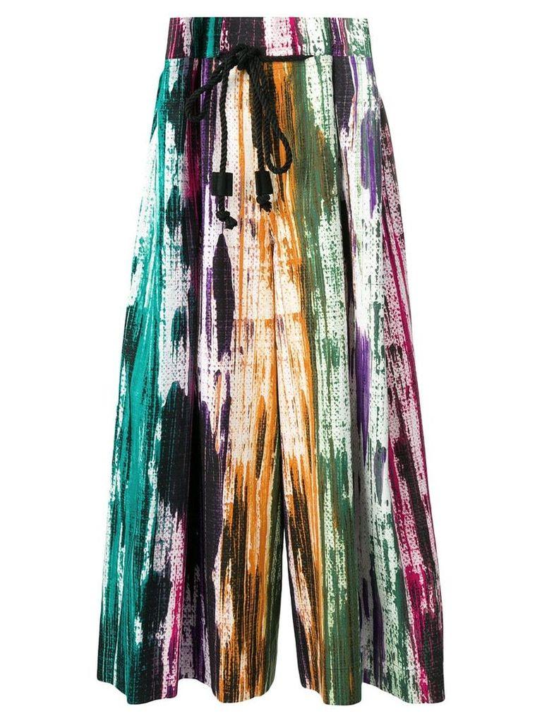 Issey Miyake Men patterned midi skirt - Green