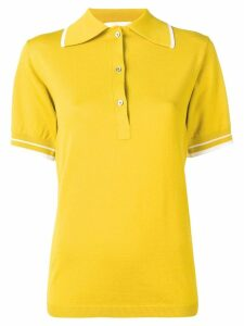 Ports 1961 stripe detail polo short - Yellow