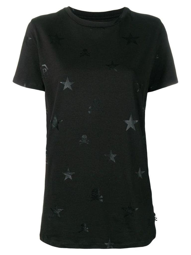 Philipp Plein signature symbols T-shirt - Black