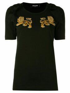 Dsquared2 lion motif T-shirt - Black