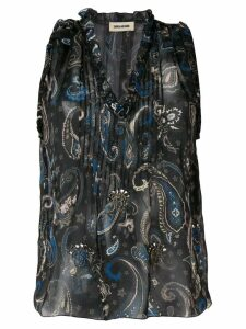 Zadig & Voltaire paisley embroidered blouse - Black