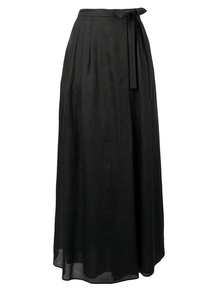 Max Mara Studio long wrap style skirt - Black