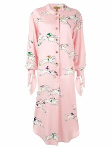 Escada silk printed shirt dress - Pink