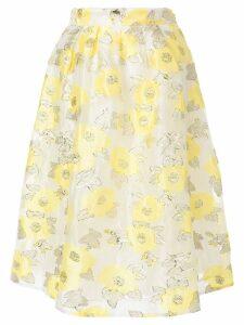 Baum Und Pferdgarten floral embroidered skirt - White