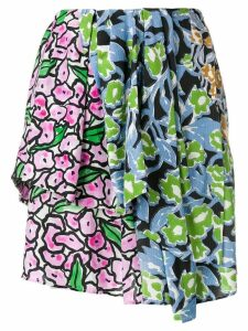 Christian Wijnants floral patchwork skirt - Blue