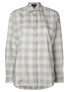 Theory checked shirt - Blue