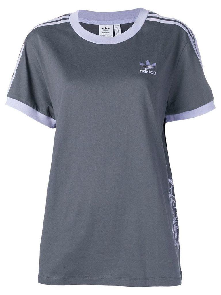 Adidas contrast stripe T-shirt - Grey