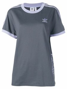 Adidas contrast stripe T-shirt - Grey