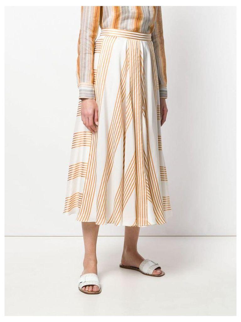 Loro Piana striped skirt - White