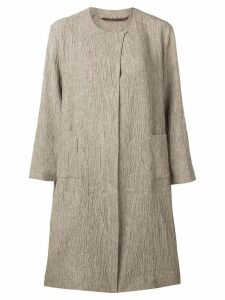 Daniela Gregis textured coat - Neutrals