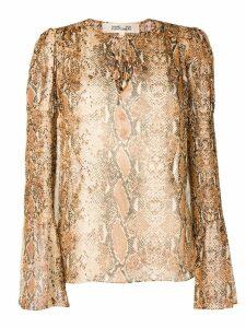 Dvf Diane Von Furstenberg snakeskin print blouse - Brown