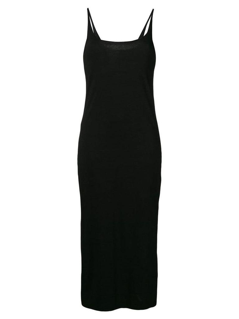 Raquel Allegra fitted midi dress - Black