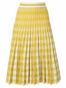 Baum Und Pferdgarten pleated gingham skirt - Yellow