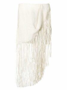 Magda Butrym fringed mini skirt - White
