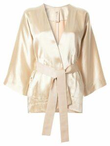 Zero + Maria Cornejo belted kimono - Brown