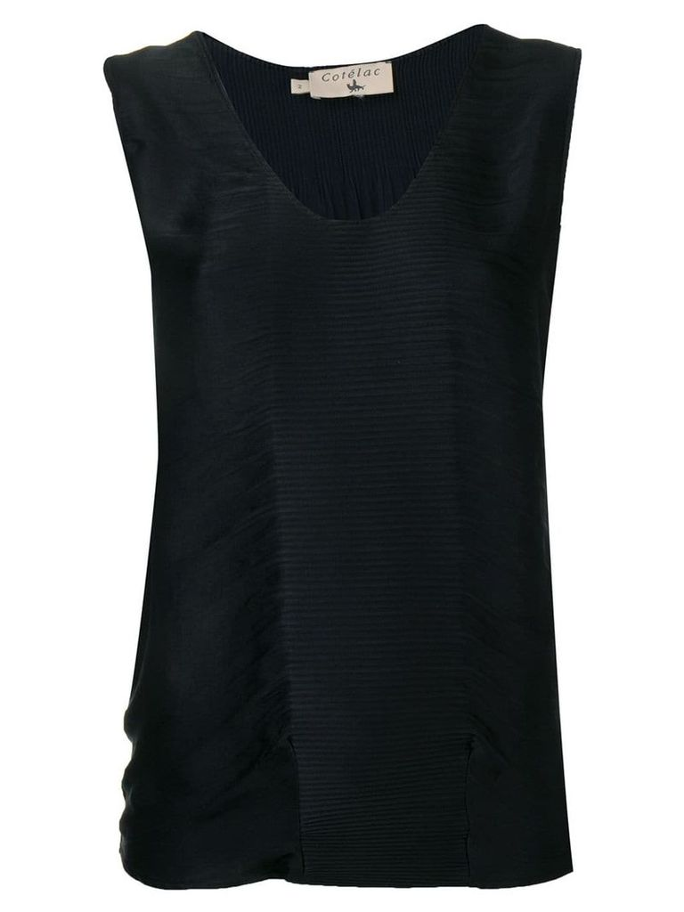 Cotélac pleated vest top - Black