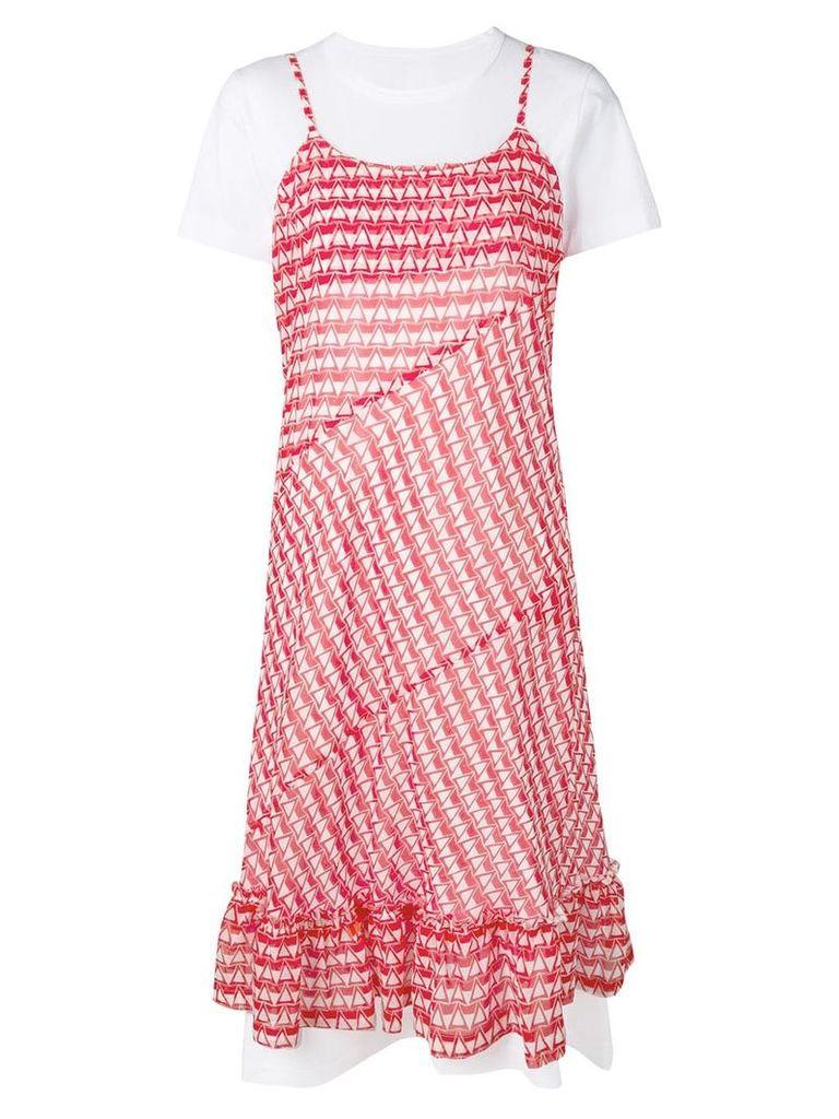 Comme Des Garçons Comme Des Garçons triangle print cami dress - Red