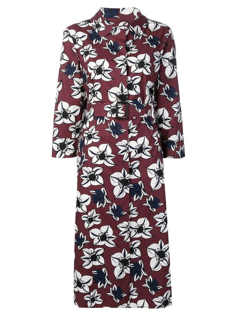 'S Max Mara floral button up dress - Red