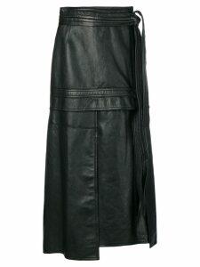 3.1 Phillip Lim Leather Patchwork Skirt - Black