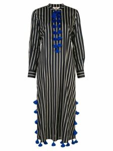 Figue Paolina tassel striped kaftan dress - Black