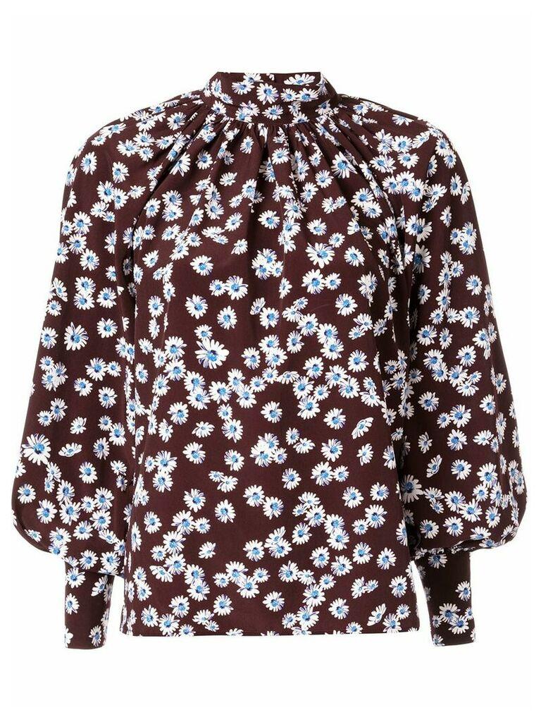 Anna October daisy print blouse - Brown