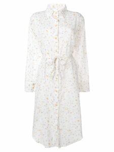 Tara Matthews seashell printed shirt dress - Neutrals