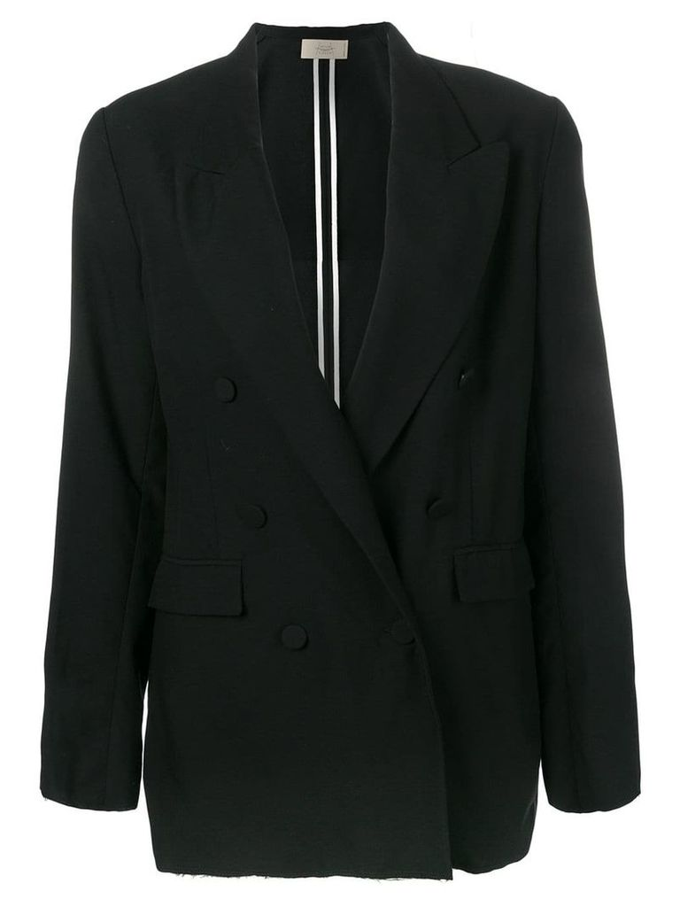 Maison Flaneur classic double-breasted blazer - Black
