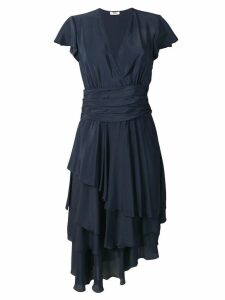 Lardini Antares tiered dress - Blue