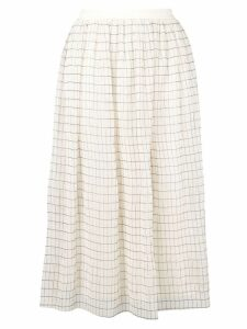 Calvin Klein checked midi skirt - Neutrals