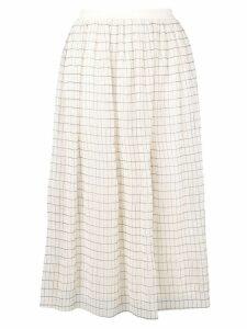 Calvin Klein checked midi skirt - Neutrals