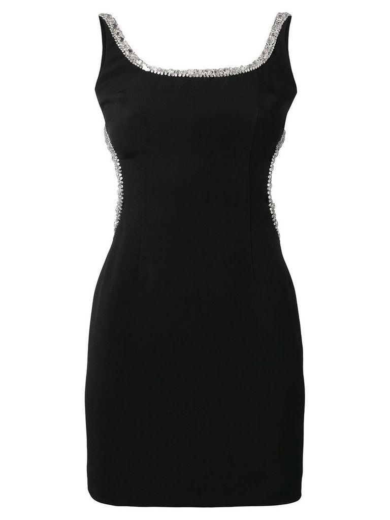 Alessandra Rich embellished body con dress - Black