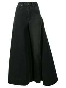 Y/Project deconstructed skirt jeans - Black