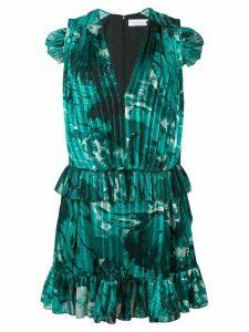 Victoria Victoria Beckham ruffle trim pleated dress - Green